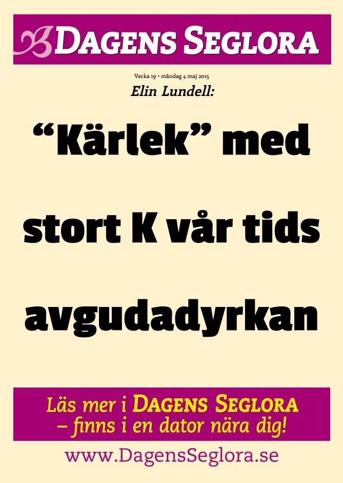 Löpsedel Dagens Seglora - 19